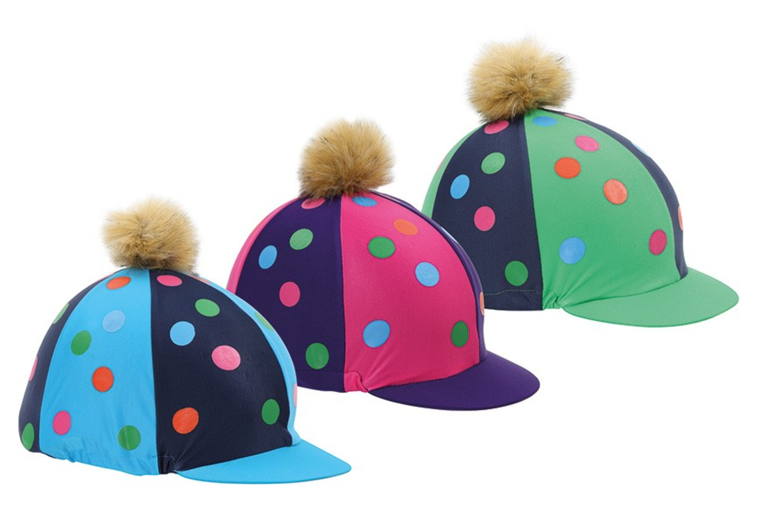 Pom Pom Hat Cover with spots